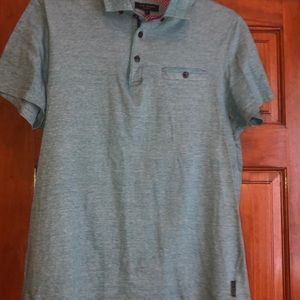 Ted Baker Polo Shirt 4 S Teal Purple